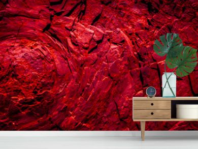 red rocks , abstract background - volcanic stone  texture   -