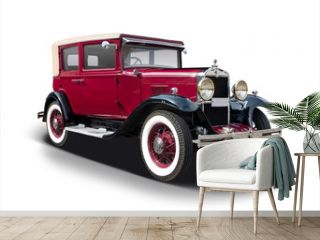 Antique car isolated on white
