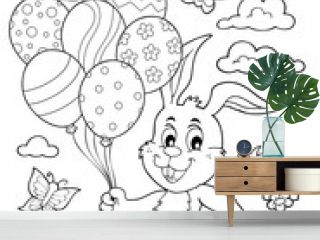 Coloring book Easter rabbit topic 2