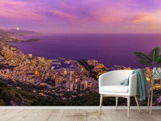 Principauté de Monaco (coucher de soleil)