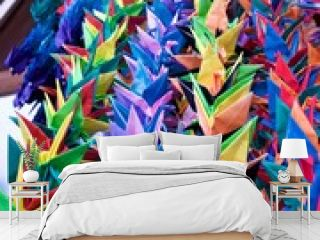 One thousand origami paper cranes