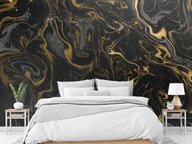 marble ink paper texture black grey gold