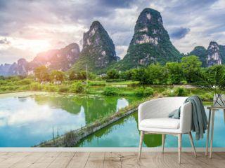 The Beautiful Landscape of Guilin, Guangxi..