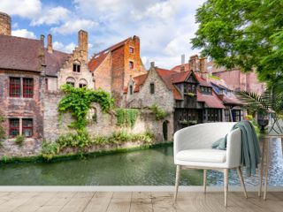 Old Bruges architecture and canals, Belgium