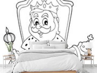 Coloring book king on throne theme 1