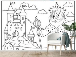 Coloring book king topic 2