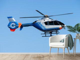 Polizeihelikopter in der Luft