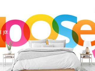 CHOOSE JOY. colorful typography banner