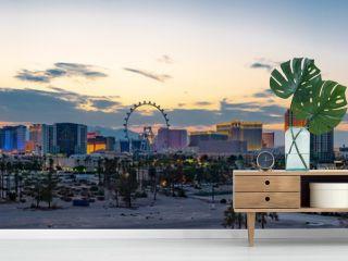 Las Vegas Strip Casinos and Hotels Skyline Panorama