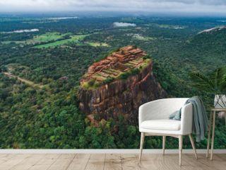 The historical Sigiriya lion rock fortress is sri lanka