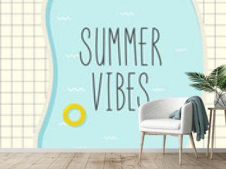 retro pool summer poster