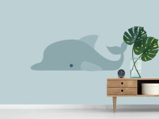 Image of dolphin, vector or color illustration.