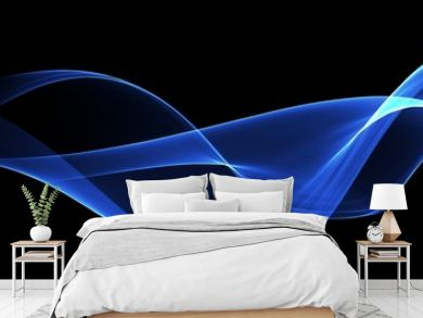 Abstract background, blue waved lines for brochure, website, flyer design