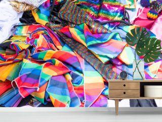 Los colores de la bandera del orgullo gay