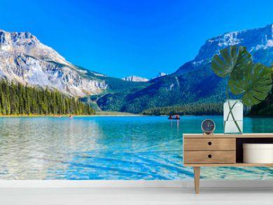 Emerald Lake,Yoho National Park in Canada,banner size