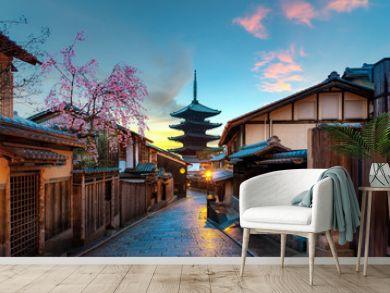 Yasaka Pagoda and Sannen Zaka Street in morning, Kyoto, Japan