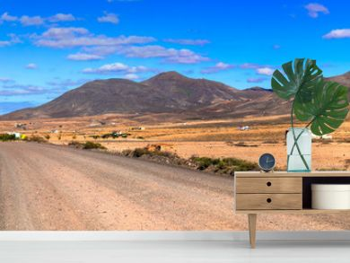 Magnificent idillyc Fuerteventura island with magic deserted landscapes
