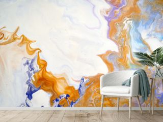 Marbling art done with acrylic paints