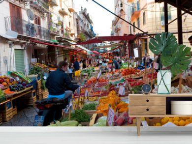 The Capo market in Palermo Sicily Italy