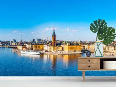 Gamla stan in Stockholm viewed from Sodermalm island, Sweden