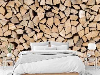 Pila de madera, con bloques homogéneos en madera de pino