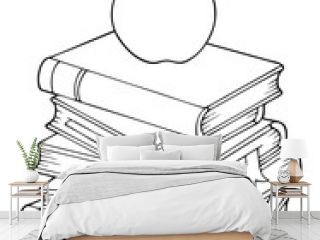 Coloring book with literature theme 1