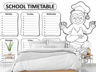 Black and white school timetable topic 5