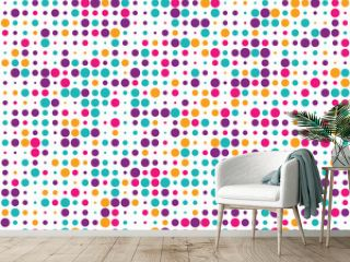 Pattern with colorful circles, seamless vector background