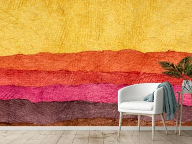 abstract landscape - colorful textured paper sheets
