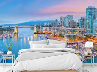 Beautiful view of downtown Vancouver skyline, British Columbia, Canada