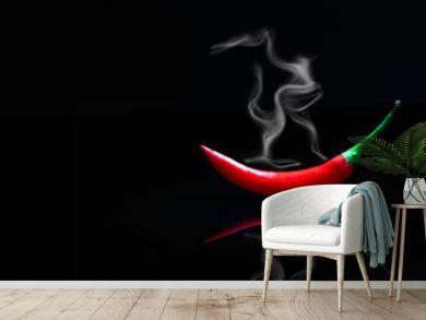 smoking red hot chili pepper