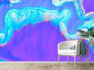 Abstract colored background from spilled paints