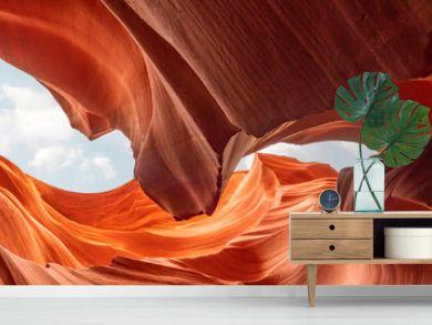 Panoramic abstract background canyon Antelope, america, Arizona. Travel concept