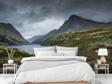 Rondvasbu tourist shelter in Rondane mountains, Norway.