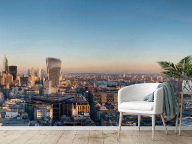 europe, UK, England, London, City Shard pano no scaffolding