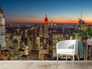 New York City manhattan evening skyline 2019 November