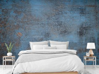 A Blue stone grunge background wall dirty texture
