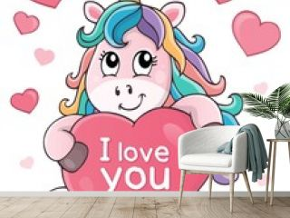Valentine unicorn theme image 2