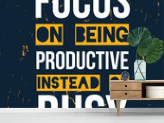 Vector focus Quote poster, inspirational motivational quote, goal background for wall, t-shirt design