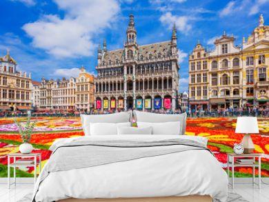 Brussels, Belgium. 2018 Flower Carpet festival.
