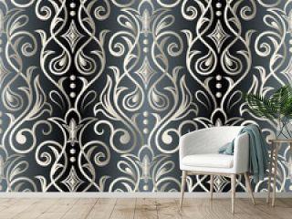 Seamless oriental pattern. Damask wallpaper. Vector vintage floral seamless pattern element.