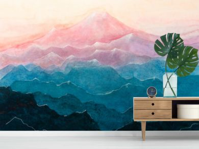 Dipinto acquerello montagna