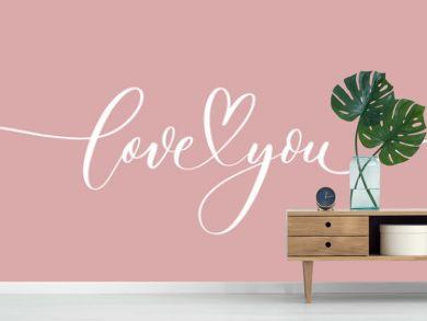 Love you - calligraphy inscription.Premium vector.