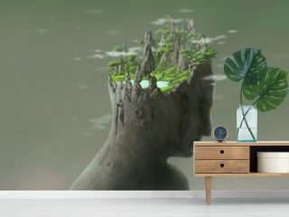 Surreal nature painting
