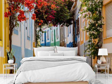 On the narrow Alleys of Ferragudo, Algarve, Portugal