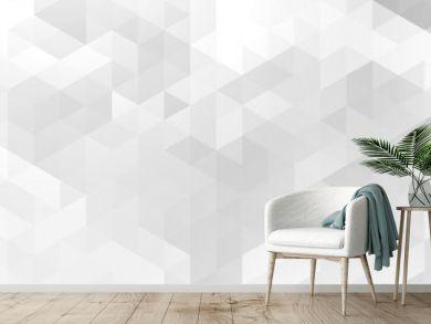 ekegant white and gray triangle pattern banner design