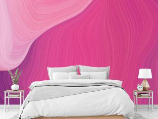 landscape orientation graphic with waves. modern soft swirl waves background design with mulberry , pastel magenta and pale violet red color