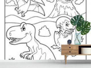Coloring book dinosaur subject image 9