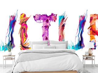 Culture banner with colorful brush strokes