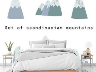 set of scandinavian mountains